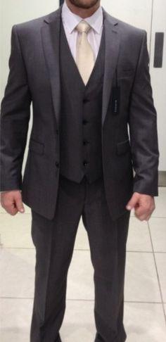 Formal dark grey Grooms suit