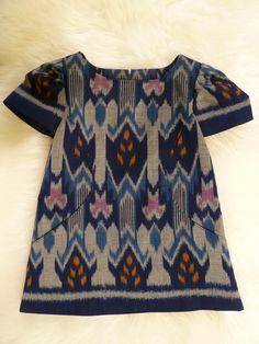 handwoven Balinese ikat pocket dress