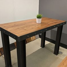 The Standing Long Island Communal Table     | industrial office furniture |  | modern industrial commercial furniture |  | rustic office furniture |  http://www.ironageoffice.com/