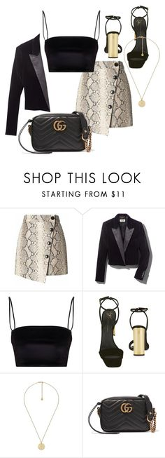 """Untitled #23658"" by florencia95 ❤ liked on Polyvore featuring Banana Republic, Yves Saint Laurent, Giuseppe Zanotti and Gucci"