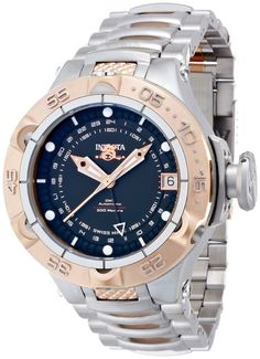 Invicta 12876 Mens LIMITED EDITION Subaqua GMT Automatic Stainless Steel Case and Bracelet Black Tone Dial Watch. Brand New 100% authentic factory direct product. Original Manufacturer Warranty. Enamel. Swiss. Automatic.