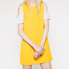Zara Dress With Open / Cut Out Shoulder Detail