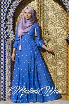 Muslima Wear -2015 Dotted Dress Lila