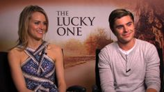 Zac and Taylor - ScreenSlam interview for The Lucky One - April 2012 Taylor Schilling, The Lucky One, Zac Efron, Interview, Fashion, Moda, Fashion Styles, Fashion Illustrations