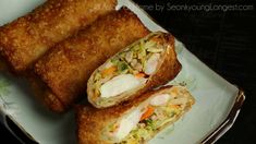 Pork and Shrimp Egg Rolls Recipe & Video - Seonkyoung Longest Egg Roll Dipping Sauce, Egg Roll Ingredients, Shrimp Egg Rolls, Seonkyoung Longest, Asian Recipes, Ethnic Recipes, Asian Foods, Chinese Recipes, Filipino Recipes