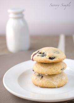 Blueberry Buttermilk Cookies