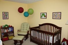 Eric Carle Gender Neutral Nursery. This is the color of J's room and the placement of his stuff. Just never thought of the theme.