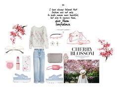 """""""Cute in Pink"""" by kikyrejeki ❤ liked on Polyvore featuring Alexander McQueen, Chicwish, Gucci, Miu Miu, Poporcelain, Nasty Gal, STELLA McCARTNEY, Guerlain, Aéropostale and Mudd"""