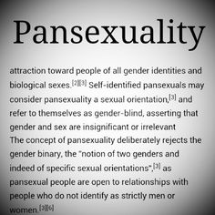 Whats what is a pan sexual orientation