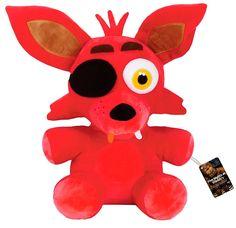 Peluche zorro Foxy 40 cm. Five Nights at Freddy's. Funko  Estupendo peluche del personaje del zorro Foxy de 40 cm, fabricado 100% en poliéster y que podemos ver en el exitoso videojuego de terror titulado Five Nights at Freddy's y 100% oficial y licenciado por la compañía Funko.