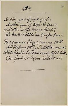 1884 Poem by Christina Rossetti