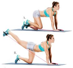 7 Easy At-Home Exercises to Tone Stomach, Bum and Thighs - Well and Living Toned Stomach, Squats And Lunges, Resistance Band Exercises, Glute Exercises, Glute Bridge, At Home Workouts, Band Workouts, Workout Routines, Workout Fitness