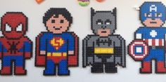Superhelte i Hama perler - Spiderman, Batman, Superman....