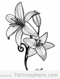 lily tattoo - For my foot