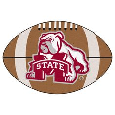 """Floor Mat 1'2""""X2'2"""" Fanmats Mississippi State Bulldogs Team Color"""
