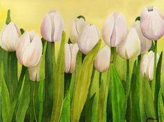 Il giardino dei tulipani bianchi