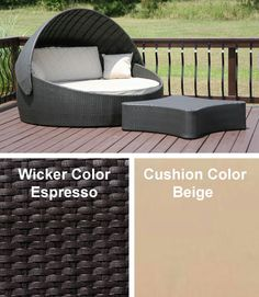 Wicker Patio Furniture Day Bed Lounger