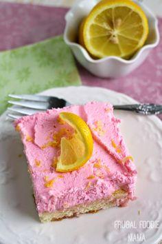 Pink Lemonade Tiramisu- a bright, lemony ladyfinger cake is frosted with a light & fluffy lemon mascarpone topping. A summery makeover of a classic Italian dessert. #AllstateSilverLining