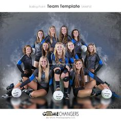 Boiling Point Photoshop Template ⋆ Game Changers by Shirk Photography LLC Softball Team Pictures, Volleyball Team Pictures, Basketball Pictures, Sports Pictures, Volleyball Ideas, Cheer Pictures, Volleyball Shirts, Volleyball Spandex, Basketball Posters