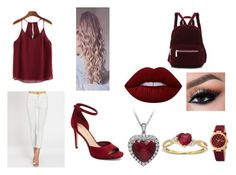 """""""Bit of burgandy red and white."""" by aisha-567 on Polyvore featuring Via Spiga, Lime Crime and bürgi"""