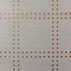 Phillip Jeffries Rivets Wallpaper Specialty & Metallic Rivets 5709 in Copper On Elephant Manila Hemp