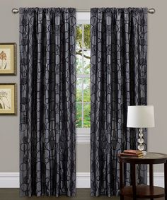 Take a look at this Gray Circle Charm Window Curtain by Triangle Home Fashions on #zulily today!  45$