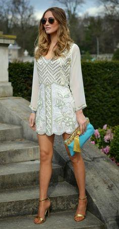 white embellished dress