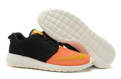 Nike Roshe Run FB Yeezy Womens Black Orange UK Cheap Buy