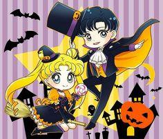 Serena y darien halloween