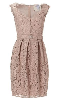 gorgeous lace dress with pleating at the waist
