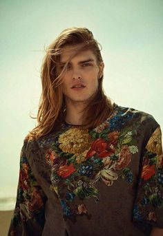 Editorial - Nevermind. Floral Top for men