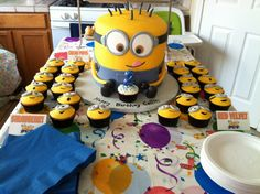 I am sooooo very excited right now! :)  Despicable Me Birthday Party Food Label Tent Personalized Printable