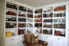 corner library bookcase
