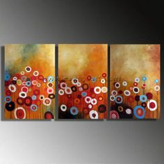 Framed Modern Abstract Huge Canvas Art Oil Painting Flower Oil Painting Floral Art