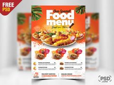 Check out our newest Free Fast Food Restaurant Flyer PSD. This Fast Food Restaurant Flyer PSD is suitable for fast foods restaurants, food cafe, italian, mexican, american restaurants. Restaurant Flyer, Pizza Restaurant, Fast Food Restaurant, Free Psd Flyer Templates, Flyer Free, Food Menu Design, Flyer Design, Fast Food Addiction, Free Fast Food
