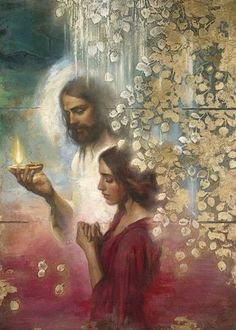 Jesus will never forsake me; the Light of the world always walks with me; Jesus is my guiding light, and He is my source of life. Images Du Christ, Pictures Of Jesus Christ, Catholic Pictures, Jesus Christ Lds, Christian Paintings, Christian Art, Paintings Of Christ, Lds Art, Bible Art
