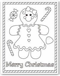 Free Printable Gingerbread Girl & Boy Coloring Pages