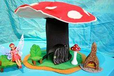 * Felt Mushroom Fairy House Tutorial