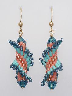 peyote earrings   Tantalizing Twists - Tahitian Twist Earring Kit