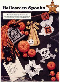 plastic canvas patterns | HALLOWEEN SPOOKS plastic canvas pattern by puddinpop on Etsy