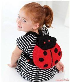 Рюкзак для девочки. Вязание крючком