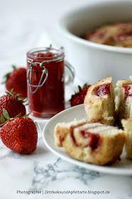 Zimtkeks und Apfeltarte: Erdbeerschnecken - super lecker und ganz schnell gemacht! Brunch, Super, French Toast, Deserts, Breakfast, Cinnamon Cookies, Strawberries, Quick Cake, Snails