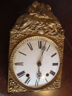 comtoise clock 1840. / comtoise sat 1840. CLOCKS / BAROMETERS⌛️⏱⏰⏲⏰More At FOSTERGINGER @ Pinterest⏰⏲⏱⏳
