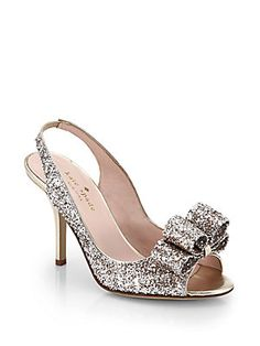cute wedding shoes with bow Kate Spade New York Charm Glitter