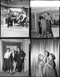 Lucille Ball, Desi Arnaz, and John Wayne (29) black & white camera negatives from I Love Lucy. Collection of (24) black & white 4 x 5 in. camera negatives and (5) glossy proof prints of Lucille Ball, Desi Arnaz and John Wayne from I Love Lucy; with KODAK-SAFETY etched and episode sequence in india ink on the border. From episode #129, Lucy and John Wayne which first aired September 15, 1955