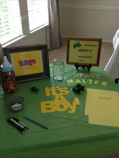 John Deere baby shower, Sarah this would be perfect for you guys if its a boy!!! :) lol