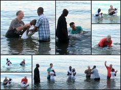 Twelve people were baptized this morning at the missionary compound.