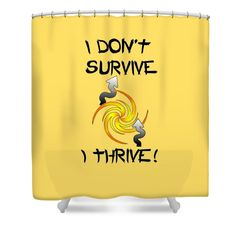 Thrive #Shower #Curtain by Judi Saunders