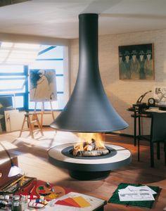 Cheminee Eva 992 centrale foyer ouvert