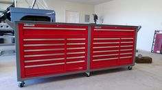 Garage Tool Storage, Garage Tools, Garage Shop, Garage House, Garage Workshop, Built In Storage, Locker Storage, Garage Ideas, Dream Garage